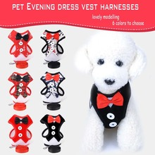 All Seasons Breathable Fabrics Pets Evening Dresses Vest Harnesses For Small And Medium-sized Dog Social Occasions