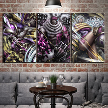 3 Piece Wall Art Anime Poster Picture One Big Mom Pirates Charlotte Katakuri Painting for Home Decor Canvas Wholesale