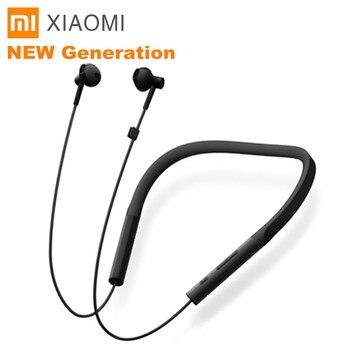 Xiaomi Kalung Bluetooth Earphone Nirkabel Earbud dengan Mic dan Kontrol IN-LINE Muda Versi 7 H Musik Bermain Neckband earphone