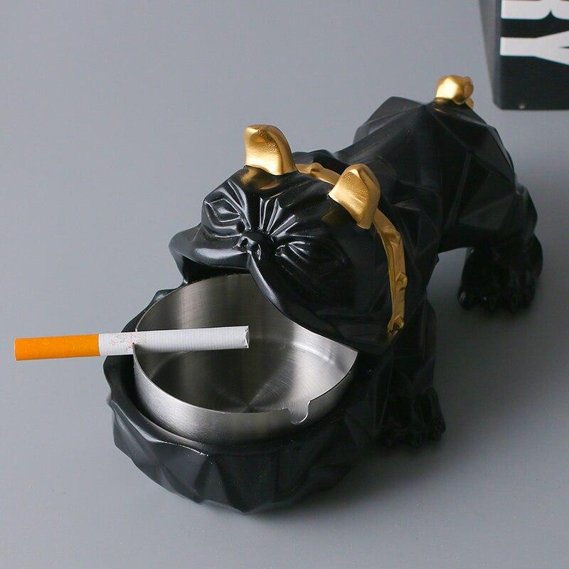 Nordic Kreative Persönlichkeit Hund Aschenbecher Mode Trend Bulldog Multifunktionale Wohnzimmer Dekoration Home Dekorationen SchüTtelfrost Und Schmerzen