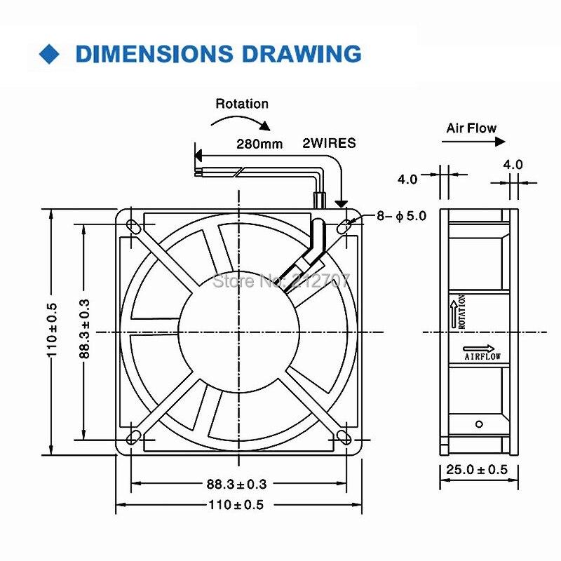 Купить с кэшбэком 1pcs 11025 110x110x25mm 220v 110*110*25 Axial AC Cooler Cooling Industrial Fan
