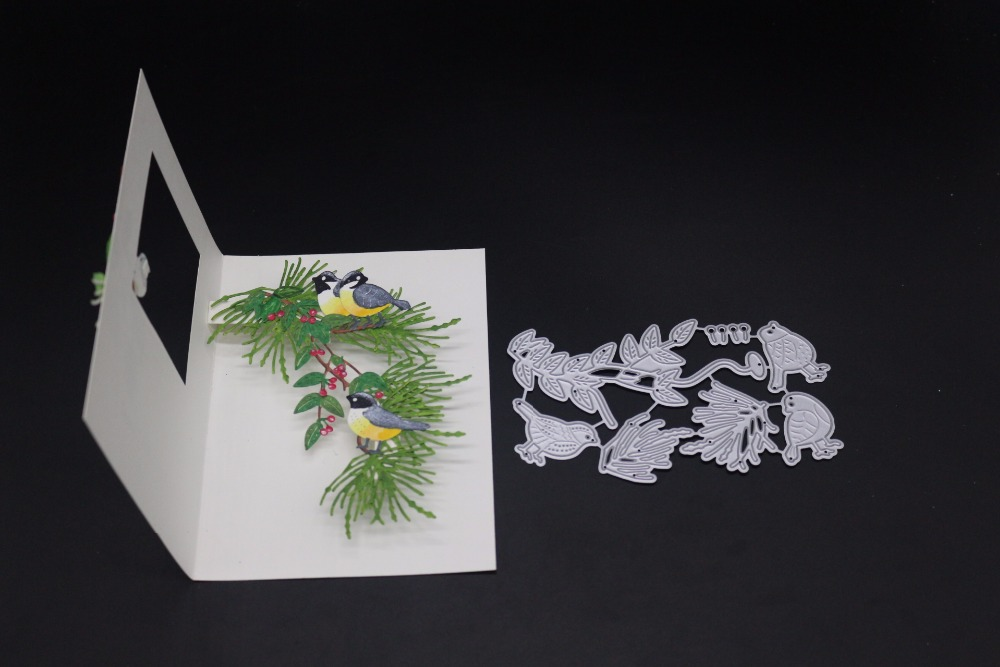 Cutting Dies 7x12.1cm Trees Branch Christmas Dies Metal Cutting Dies New 2019 Dies Scrapbooking New Arrivals Diy Die Cuts Alinacrafts Craft Rich And Magnificent Scrapbooking & Stamping