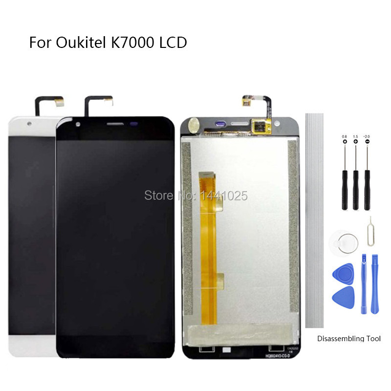 Display Screen Replace for <font><b>Oukitel</b></font> <font><b>K7000</b></font> LCD Touch Screen 5.0 inch black for <font><b>Oukitel</b></font> <font><b>K7000</b></font> Touch Screen LCD With Frame image