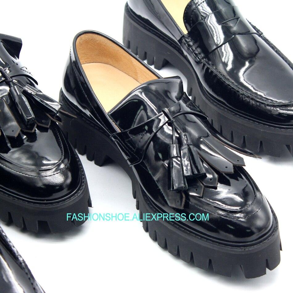Faulenzer Frühling Frau Boote Quaste Heißer Formale Business Fahren Ferse 2018 Schuhe Slip 1 Flache Fringe Auf qF7wv