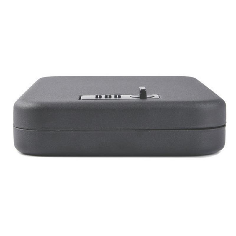 Coffre-fort portatif en acier Mini mallette de rangement de voiture conteneur sûr pour voyager