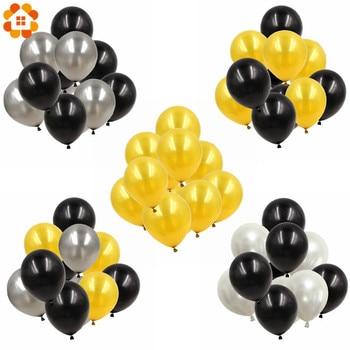 Oro Argento Nero Serie di Buon Compleanno A Tema Palloncini In Lattice Del Partito di Festa di Nozze Decorazione Aria Elio Palloncini Per Bambini Regali Forniture