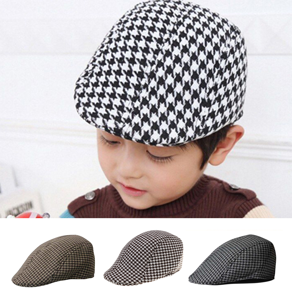 eff3825916f Detail Feedback Questions about Children Kids Peaked Country Cabbie Golf  Hats Cotton Hound Tooth Beret Cap Newsboy Flat Hat Fashion Outdoor Acc on  ...