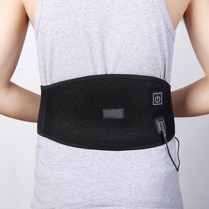 USB Charge taille coussin chauffant ceinture bas du dos bandeau thermique chaud froid thérapie ensemble soulagement de la douleur Muscle lombaire Kit taille soin