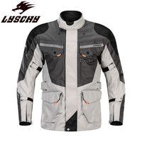 LYSCHY Touring Motorcycle Jacket Moto Riding Clothing Body Armor Protection Suit Men Reflective Coat Clothes Enduro Jackets