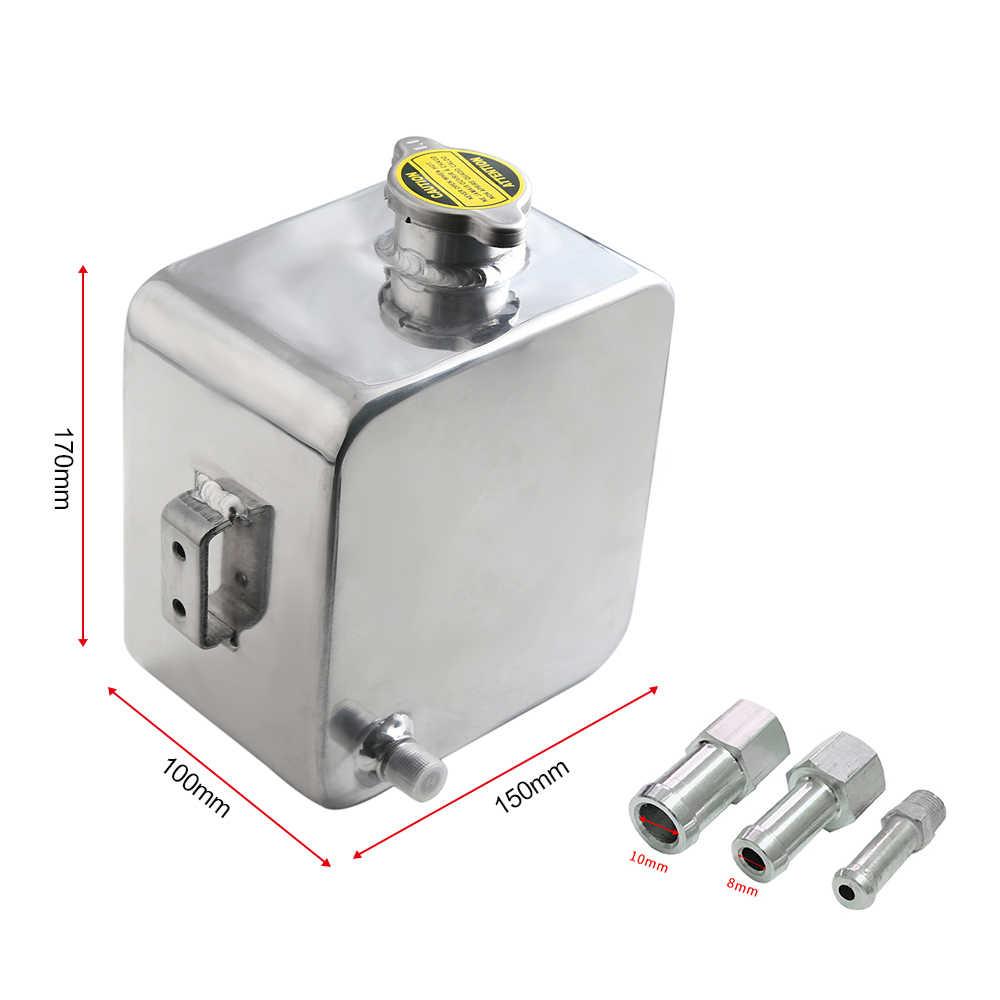 Universal 2L Aluminium Water Tank Coolant Header Overflow Expansion  Recovery Tank Reservoir Kit for Car Repair Maintenance