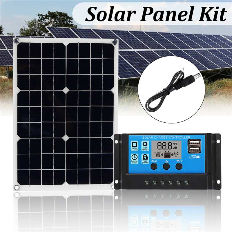 Hot Selling 20W 3in1 Solar Power Panel Kit USB Solar Panel 12V 5V 10A PWM Solar