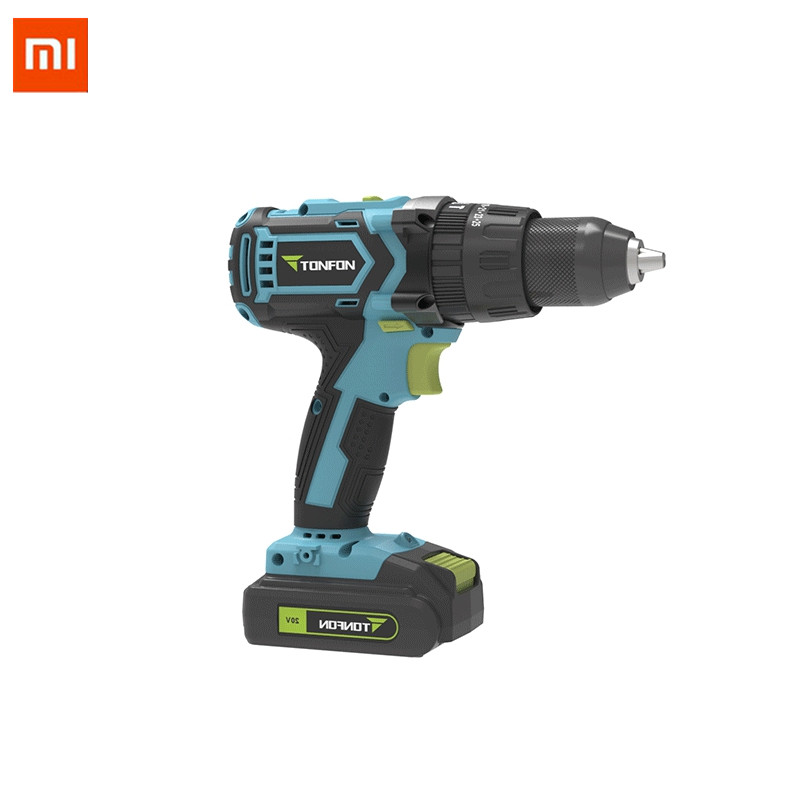 XIAOMI Tonfon 3 in 1 20V Rechargable Impact Drill Cordless Electric Screwdriver Drill with Bits