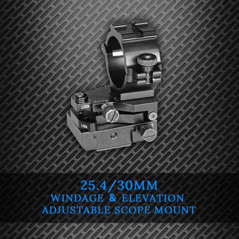 Set of Quick release low profile weaver rifle scope mounts Suits 25+30mm scopes