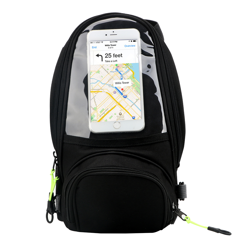 Magnetic & Straps fixed Multifunctional Waterproof Luggage Motorcycle Accessories Mobilephone Navigation Bag Motorcycle bag
