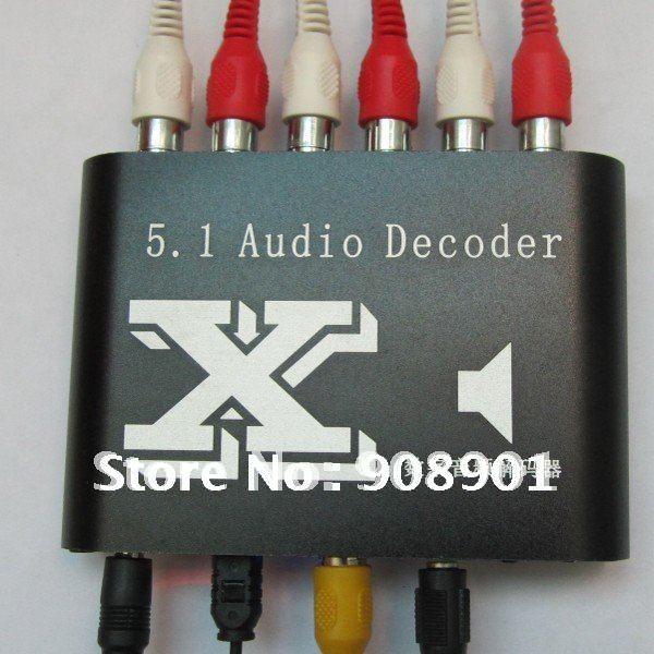 1 Teile/los, Neue Digital Dolby Dts/ac-3 Optische Spdif Zu Analog Audio Getriebe Sound-decoder 5,1, Freies Verschiffen SorgfäLtige FäRbeprozesse