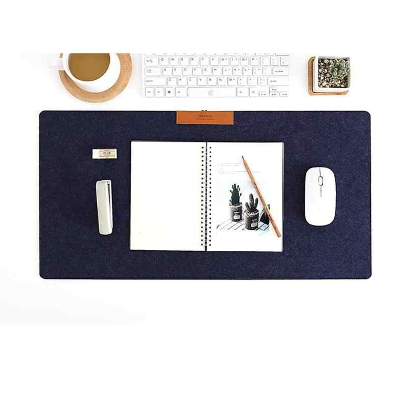 Alloyseed Merasa Meja Pad Lembut Besar Ukuran Mouse Pad Keyboard Gamer Mat Komputer Laptop Mousepad A4 File Cover Meja Tikar bantal