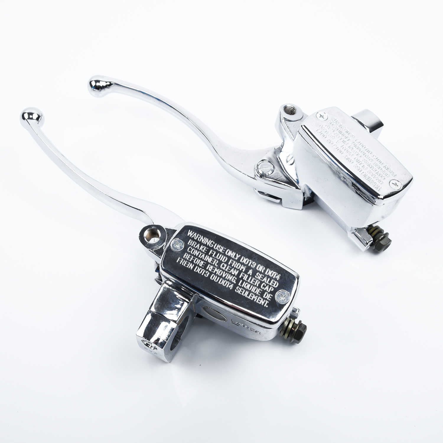 One pair of Chrome Brake Master Cylinder Clutch Levers high quality  suitable For Suzuki Intruder 800/ 1400 / 1500