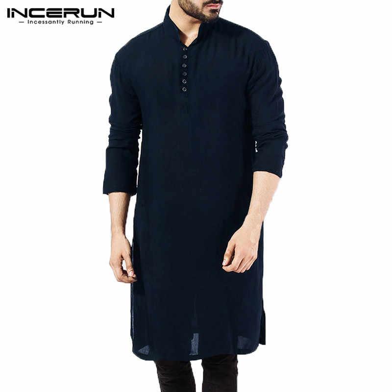 9825561678 Marca básica para hombre Camisas manga larga vestido Kurta ropa islámica de  la camisa elegante Kaftan
