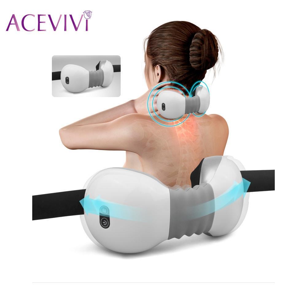 Portable masseur pour le cou soins de santé Cervicale thérapie instrument infrarouge sans fil masseur pour le cou pétrissage Sans Fil Télécommande