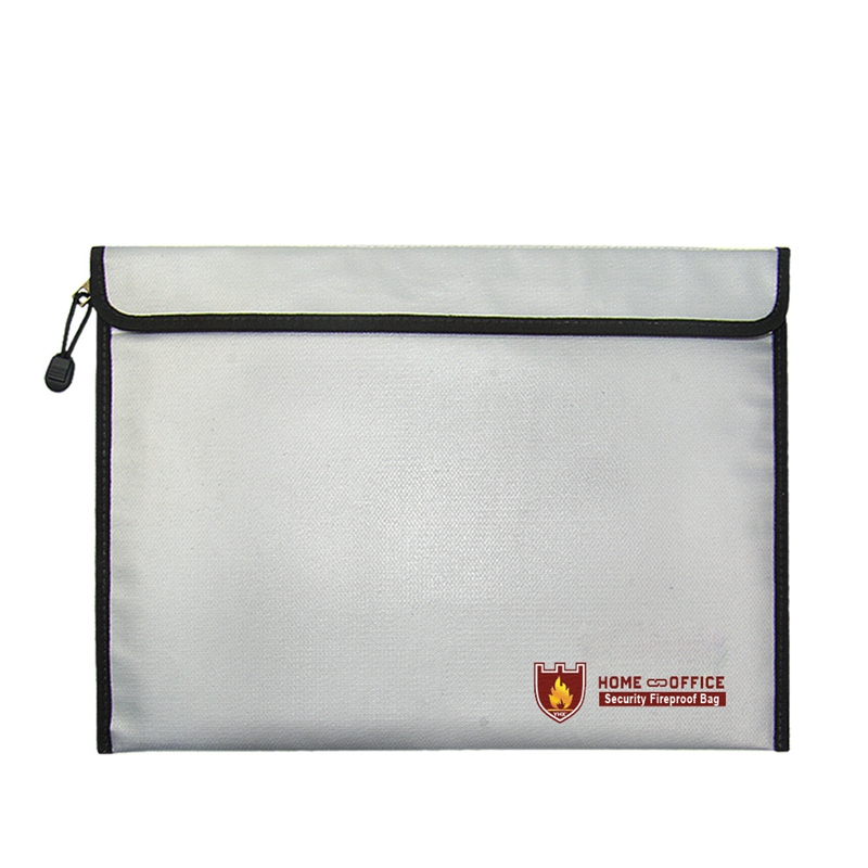 2018 Silver Fire Resistant Waterproof Safe Bag For Important Documents