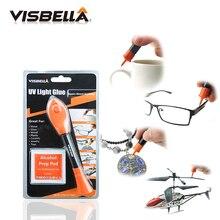 Visbella 5 Second Fix Liquid Plastic Welding UV Light repair Pen Curing Glue UV gel Seal Anything ceramic jewelry cable acrylic