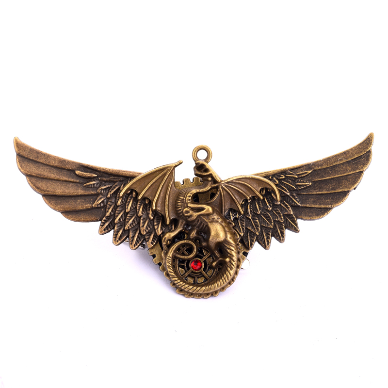 Steampunk Angel Wings Hair Clip Women Men's Party Pin Christmas Gift Antique Dragon Hair Pin Gothic Accessories 1
