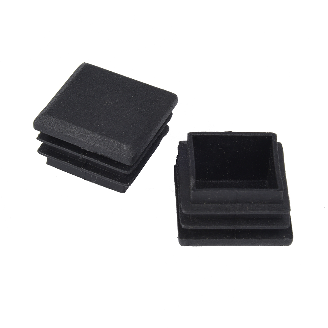 Promotion! 10 Pcs Plastic Black  Square Tube Inserts End Blanking Cap 25mm X 25mm