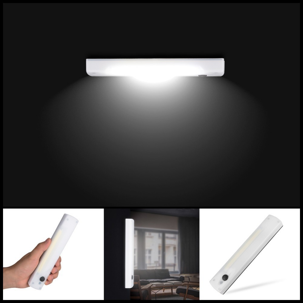 Wireless COB LED Switch Night Light Porch Wall Lamp For Bedroom Hallway Cabinet Kitchen Closet Lights AAA With Magnetic Strip
