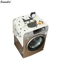 Roller Washing Machine Cover Cartoon Animal Multicolor Pattern Dust Proof Square Covers