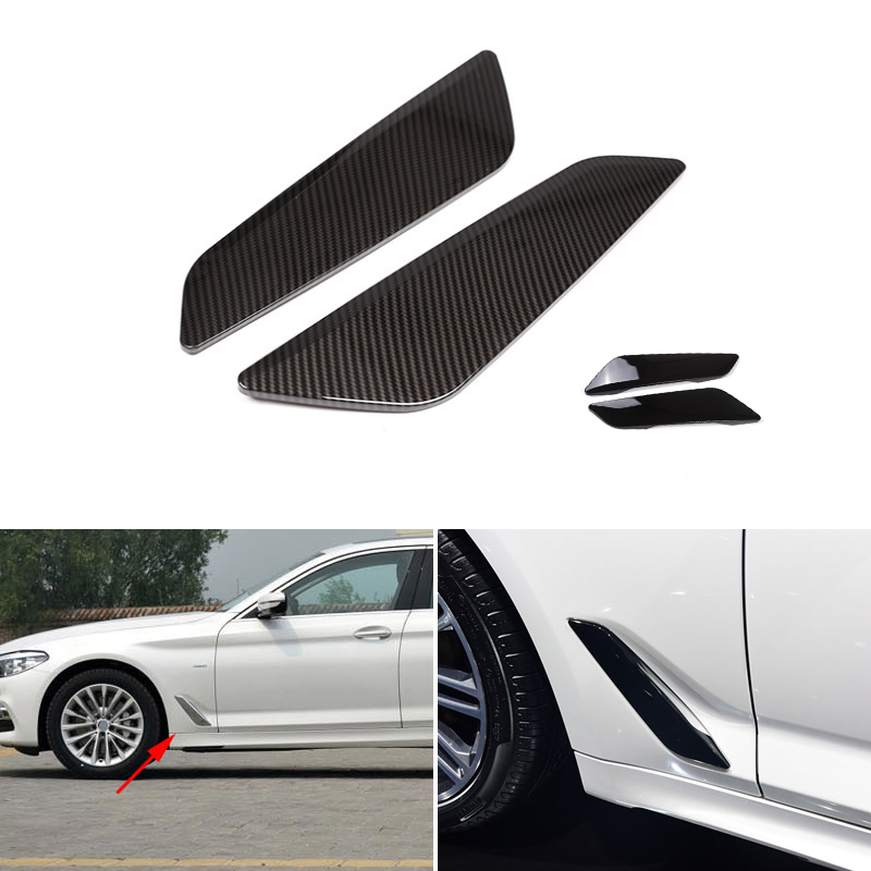 2PCS Car Styling Glossy Black Side Wing Air Flow Fender Grill Outlet Intake Vent Trim For BMW 5 Series G30 2018 in Interior Mouldings from Automobiles Motorcycles