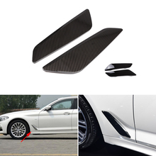 2PCS Car Styling Glossy Black Side Wing Air Flow Fender Grill Outlet Intake Vent Trim For BMW 5 Series G30 2018
