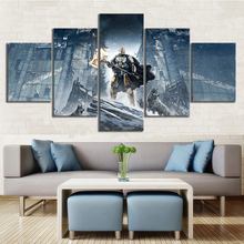 5 Piece Knights and Wolves Destiny 2 Game Canvas Printed Wall Pictures Home Decor For Living Room Poster Wholesale