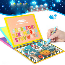 купить Children Water Drawing Book Coloring Book Doodle With 1Pcs Pen Painting Draw Board For Kids Recognize Learning Reusable Toys дешево