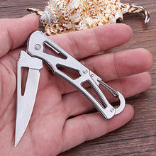 camp sharp cutter Box Blade peel outdoor Knife Pare cutter cut Fold Fruit tool Carabiner Package survive multi razor Open Hang(China)