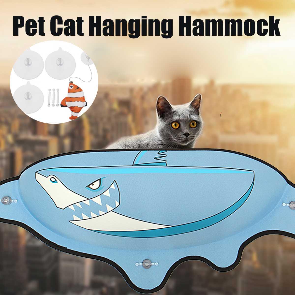 Cat Beds & Mats Temperate Hanging Cat Bed Mat Soft Cat Hammock Window Hammocks Kennels 10kg Cat Safe Hanging Shelf Seat Beds Cover Cushion