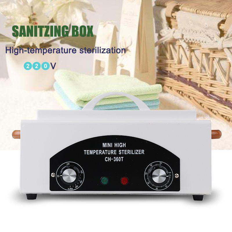 Professional High Temperature Sterilizer Box Nail Art Salon Electric Manicure Nail Tools Sterilizing Tool Dry Heat Sterilizer
