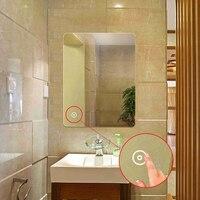 70cm*50cm LED Smart Bathroom Makeup Mirror Bathroom Toilet Mirror with Touch Controlling Anti fog Makeup Mirrors Frameless HWC