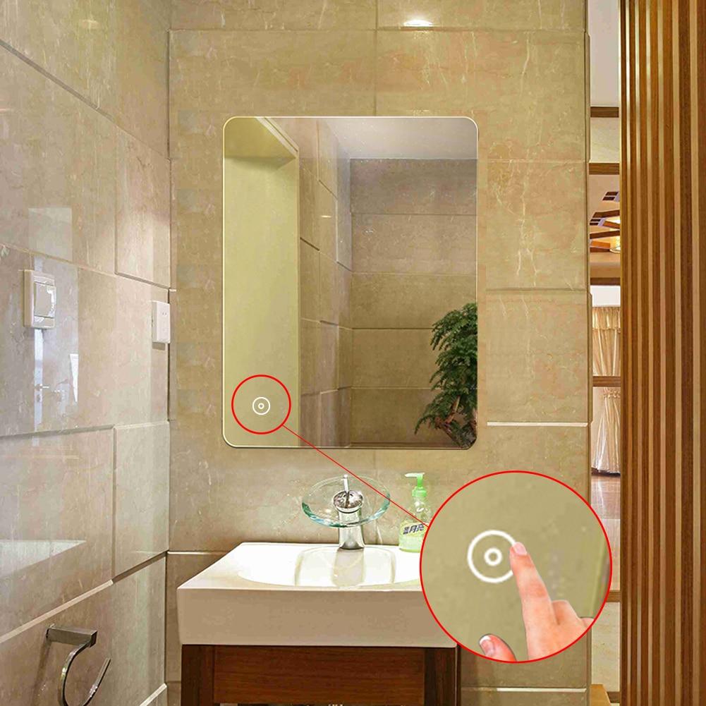 70cm * 50cm LED inteligentna łazienka lustro do makijażu toaleta wc lustro z sterowanie dotykowe Anti fog lustro do makijażu s bezramowe HWC w Lustra do makijażu od Uroda i zdrowie na AliExpress - 11.11_Double 11Singles' Day 1