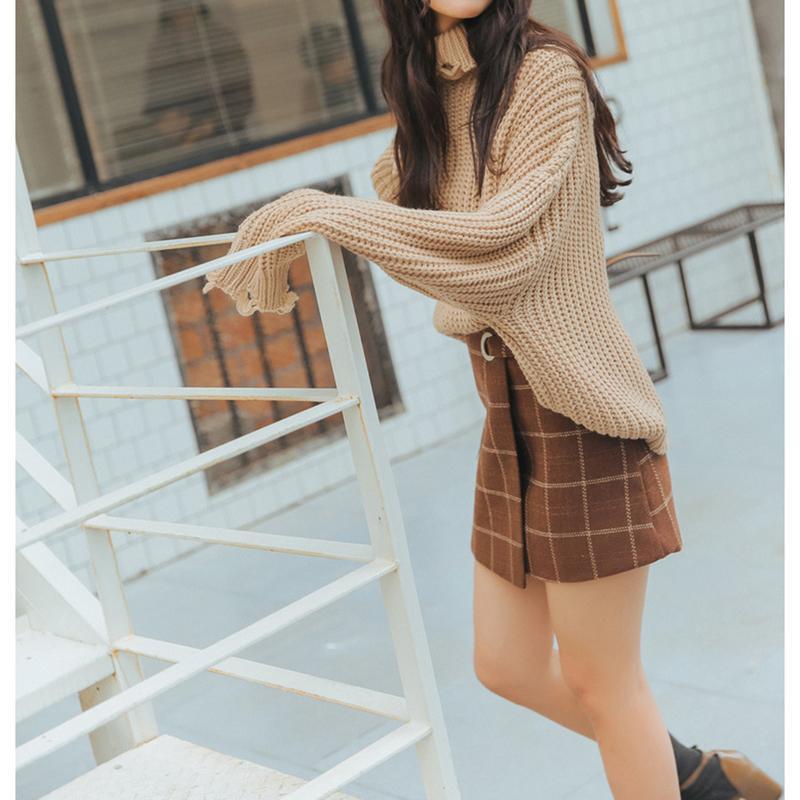2019 Spring Summer Women A-line Mini Plaid Skirt Retro High Waist Irregular Stitching Skirt Casual Slim Fit High Quality Skirts