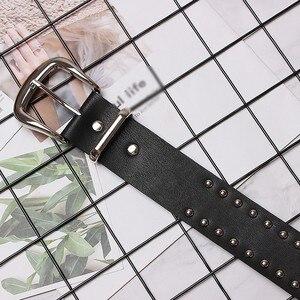 Image 4 - CHICEVER nit PU skórzane pasy dla kobiet czarny ze sprzączką pasek damski spodnie damskie akcesoria jesień koreański moda fala 2020