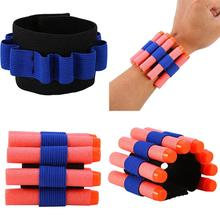 RCtown Bullet Dart Ammo Storage Wrist Belt Rubber Band Strap for Nerf N-strike Blaster Gun цена 2017