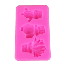 Silicone Cactus Mold Fondant Chocolate Bake Mould DIY Clay Molds for Decorating Baking Tool