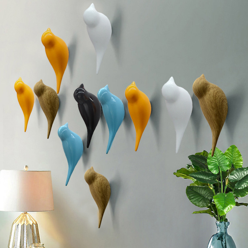 غامض بسيط الحديثة الطيور منظمة تخزين المنزل جدار ديكور خطاف ملابس معلقة جدار معلق الملابس