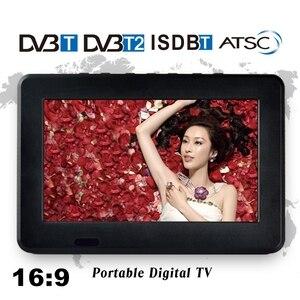 Image 2 - Taşınabilir 9 inç 16:9 1080P TFT Led HD PVR DVBT2 DVBT ISDB dijital Analog TV desteği USB TF kart okuyucu