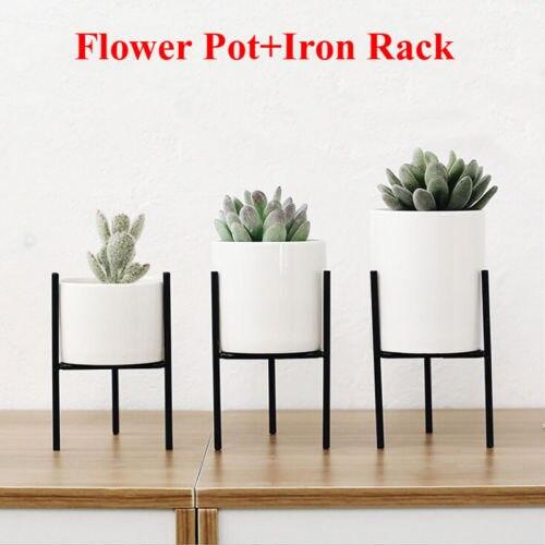 16cm Square Bucket Christmas /'Santa Design/' Metal Planters Flower Pot