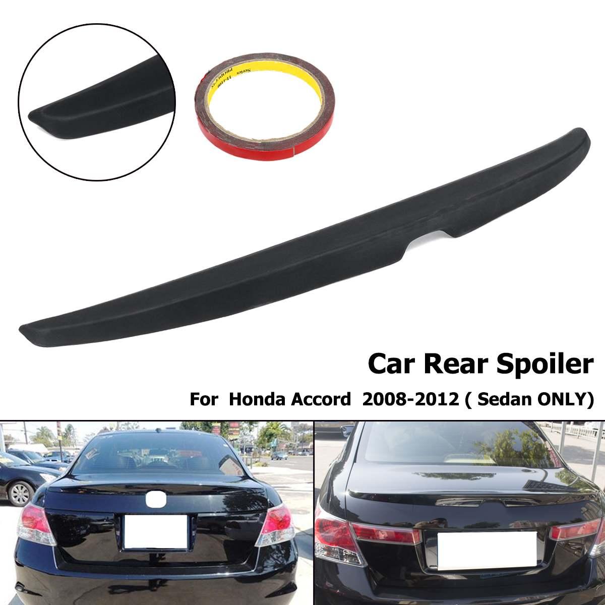 Матовый черный Неокрашенный задний багажник губ крыло спойлер для Honda Accord 4DR Седан 2008 2009 2010 2012 2011 ABS пластик