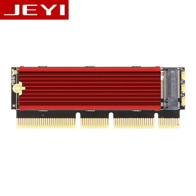JEYI MX16-1U M.2 NVMe SSD NGFF PCI-E 3.0 m Clé Carte D'interface X4 X8 X16 Adaptateur Soutien PCI Express 2230-2280 m.2 Pleine Vitesse