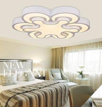 Nuevas luces de techo Led modernas de acrílico para sala de estar dormitorio Plafon Led iluminación del hogar lámpara de techo accesorios de iluminación del hogar
