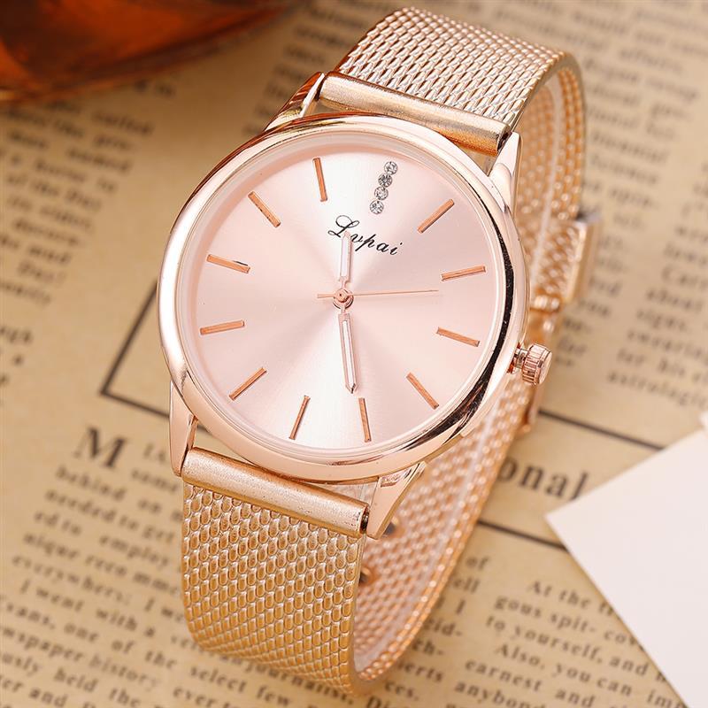 2018 Women Minimalist Silver Watchstainless Steel Analog Quartz Wristwatch Ladies Luxury D