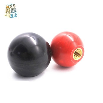 2pcs Black or Red Plastic M4/M5/M6/M8/M10/M12 M14/M16 Thread Ball Shaped Head Clamping Nuts Knob